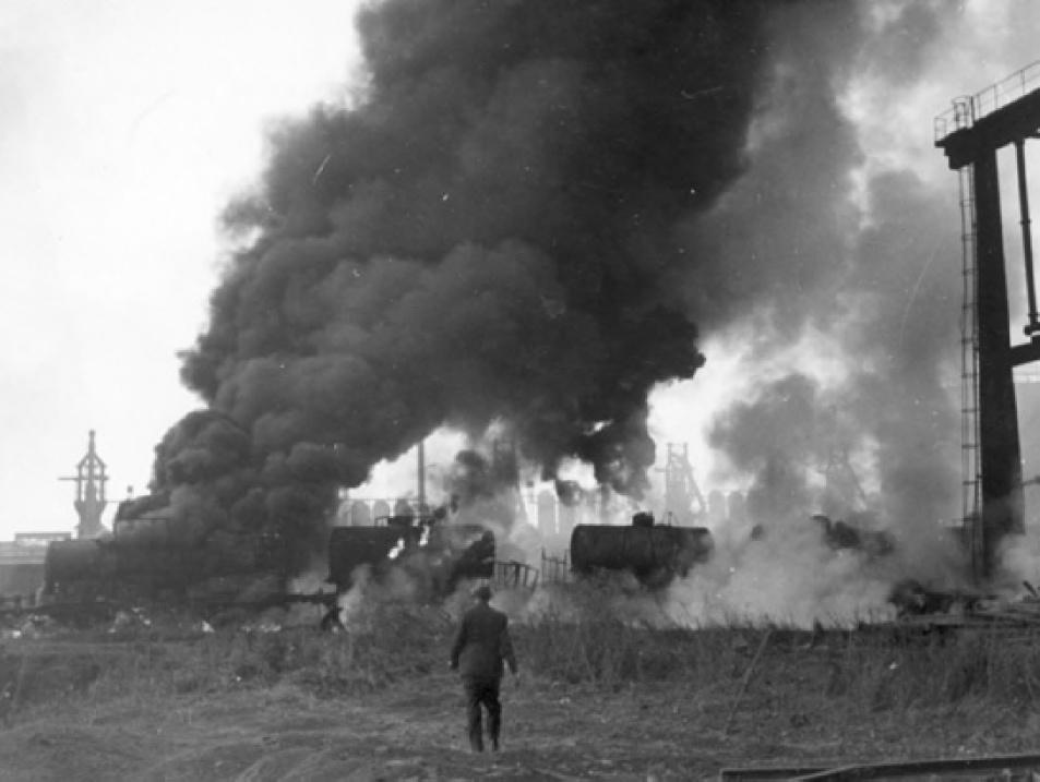 Bombentreffer Göring Werke kl