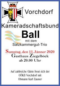 Ball Vorchdorf 11. Jänner 2020 Gasthaus Zeigelböck