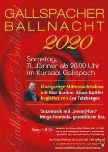 Ball Gallspacher Ballnacht 11. Jänner 2020 Kursaal Gallspach
