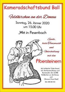 Ball OÖKB Feldkirchen an der Donau 26. Jänner 2020 Wirt in Pesenbach