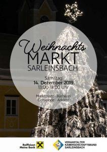 Weihnachtsmarkt Sarleinsbach 14. Dezember 2019 Marktplatz Sarleinsbach