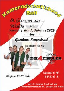 KB Ball St. Georgen am Walde 1. Februar Gasthaus Sengstbratl St. Georgen am Walde