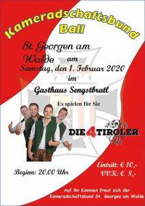 KB Ball St. Georgen am Walde 1. Februar Gasthaus Sengstbratl St. Georgen am Walde