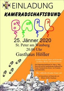 Ball St. Peter am Wimberg 25. Jänner 2020 Gasthaus Höller